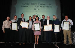 SAPRO recycled product of the year award
