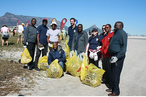 International coastal cleanup day coordinated in Cape Town by Plastics SA