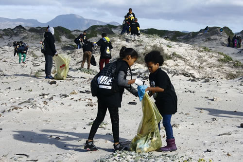 International Coastal Cleanup in Cape Town