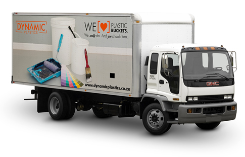 Dynamic Plastics - Branded Delivery Trucks